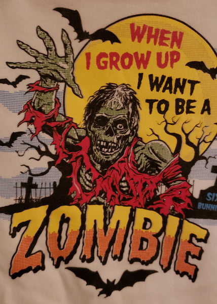 When I Grow Up I Want To Be A Zombie Baby Onesie