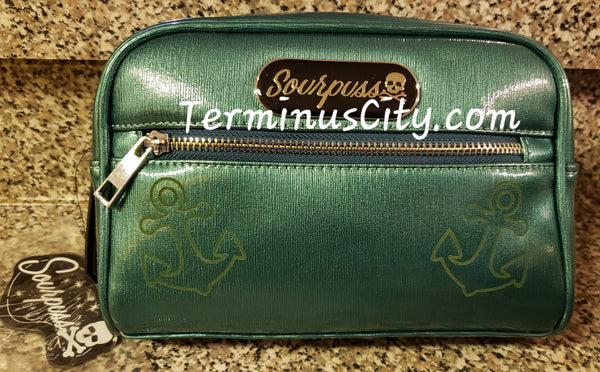 Anchors Cosmetic Make-Up Bag - Teal Green