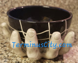 Skeleton Zombie Hand Ceramic Bowl