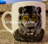 Rocker Lion In Leather Wild Dining Mug