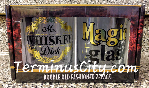 Funny Double Old Fashioned Glass Set