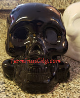 Ceramic Skull Bank - Black