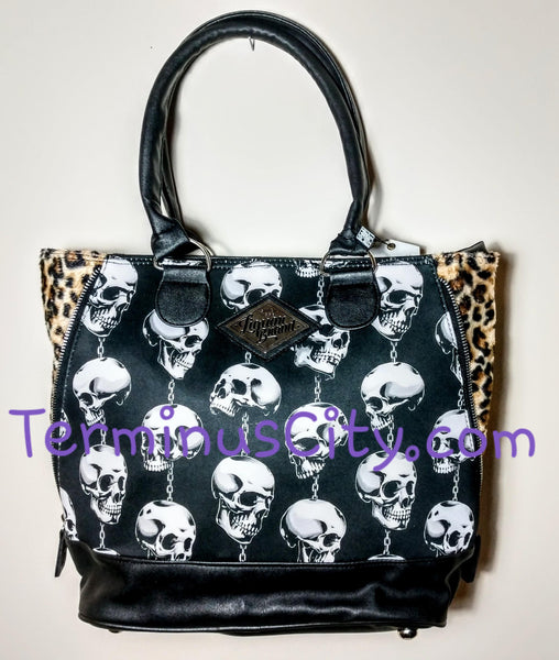 Skulls Trinkets Shoulder Handbag