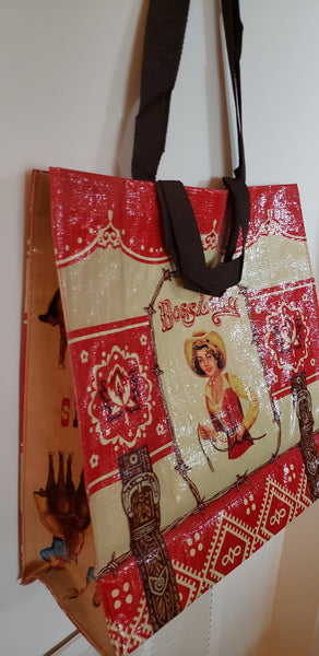 Boss Lady Large Recycled Shopping Tote Bag