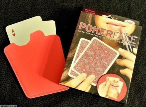 Pokerface Pocket Mirror