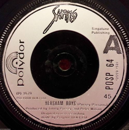 "Sham 69 - Hersham Boys 7"" Record - Bill Danforth Collection"
