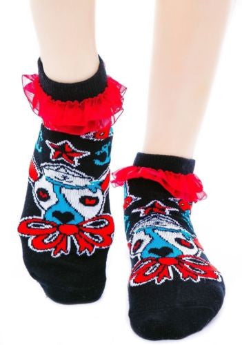 Ruffle Socks - Ahoy Sailor Dog