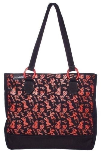Officially Licensed Bettie Page Shopping Tote Handbag