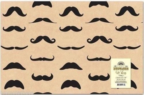 Wrapping Paper - Mustache