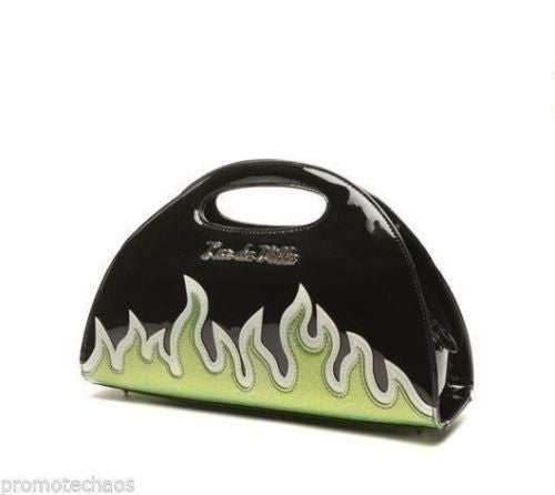 Lux De Ville Diabla Darling - Lime Green Flames