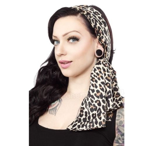 Bad Girl Scarf - Leopard