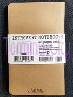Introvert Notebooks - Set of 3