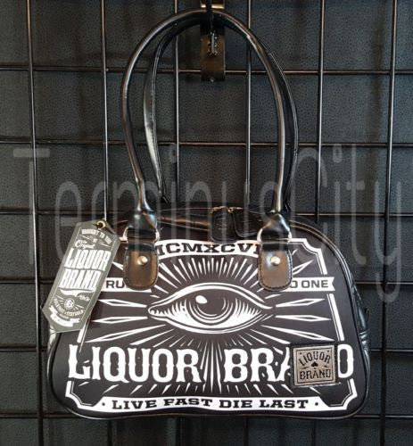Liquor Brand Mysterious Eye Small Bowling Handbag
