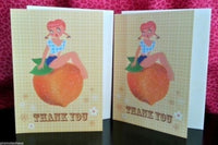 Fluff Thank You Cards Set of 2 - Sweet As A Peach