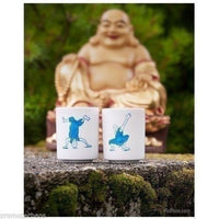 Breakdancing Monks Teacups - Set of 2