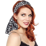 Bad Girl Scarf - Gray Leopard