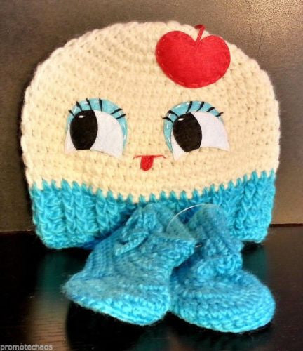 Beanie Hat & Booties Baby Set - Cupcake
