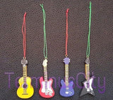 Rock Guitar Ornaments - Set of 4