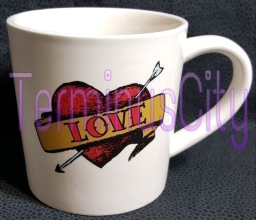 Large Tattoo Style Mug - Love