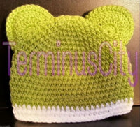 Beanie Hat & Booties Baby Set - Frog