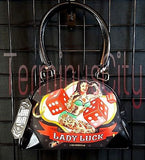 Liquor Brand Lady Luck Small Bowling Handbag