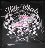 Hell On Wheels Pillow Cover - Roller Skate