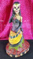 Day Of The Dead Skeleton Woman Statue