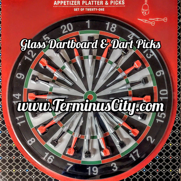 Glass Dartboard Cheese Platter