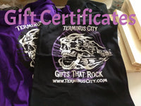 Gift Certificates ~ Custom Values Are Also Available Starting at $5