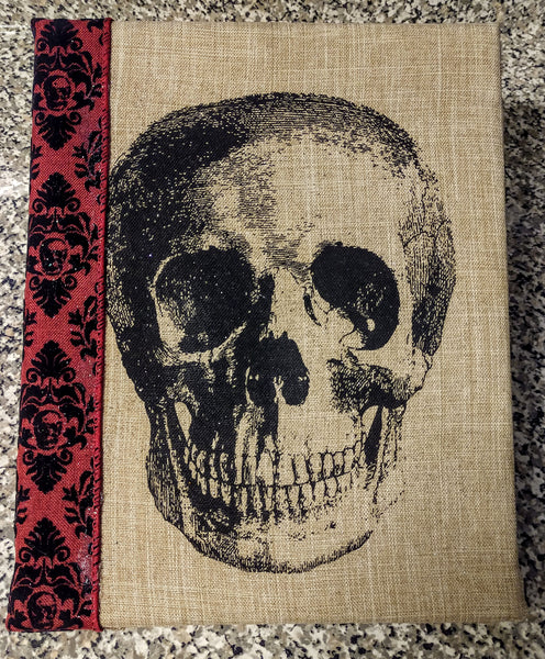 "Skull Mixed Media One Of A Kind Art 8""x10"""