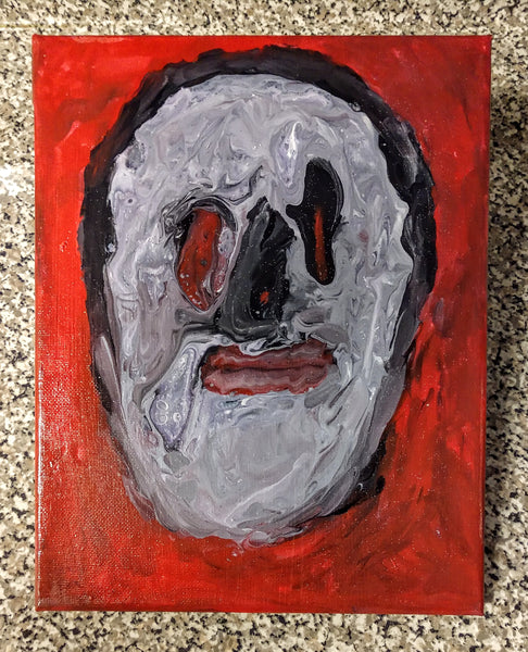 "Handpainted Canvas Creepy Monster Face One-Of-A-Kind 8""x10"" (or Custom Available)"
