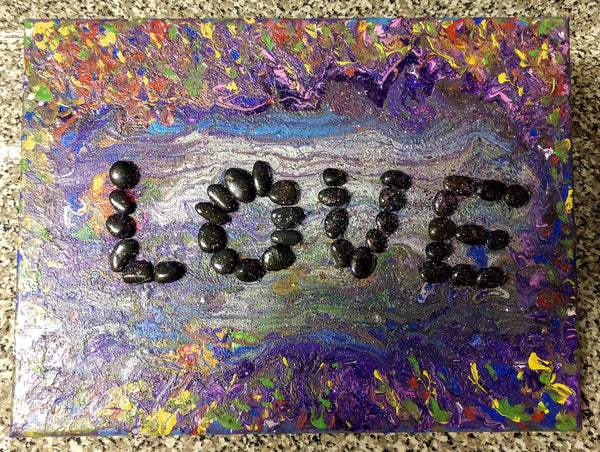 "Handpainted Mixed Media Canvas One-Of-A-Kind 10""x12"" (or Custom Available)"