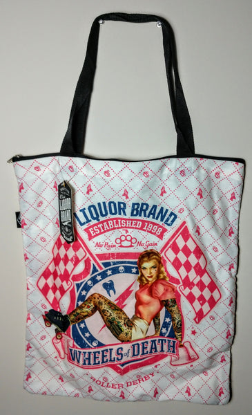 Liquor Brand Wheels Of Death Canvas Shopping Tote