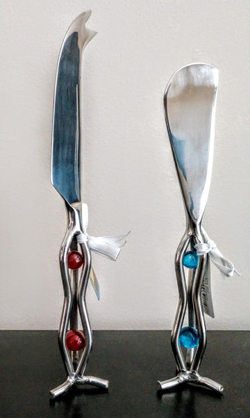 Standing Cheese Knife and Spreader Set OR Individual