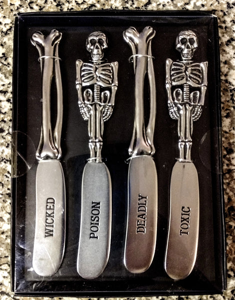 Skeleton Bones Spreader Knife Set