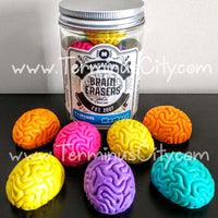 Brain Erasers Set - 7 Colorful Horror Brains