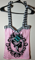 Pink Zombie Girl Cameo Top Size Large