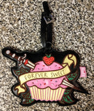 Rare OOP Fluff Luggage Tag - Forever Sweet Cupcake