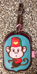 Rare OOP Fluff Luggage Tag - Monkey