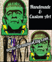 HANDMADE Frankenstein Art Key/Leash/Mug/Coat/Guitar Cord Hanger Or Choose