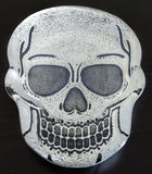 Glass Skull Knick Knack Tray