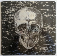 Skull Cork Place Mat Black & Silver