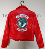 Riverdale Southside Serpents Red Faux Leather Jacket