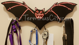 HANDMADE Bat Art Key/Leash/Mug/Coat Hanger Black Purple White Or Choose
