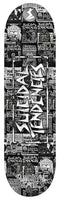 Official Suicidal Tendencies - Suicidal Skates ST Spray Paint White Logo Popsicle Deck *FREE SHIPPING*