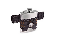 Leopard Garter Mini Flask