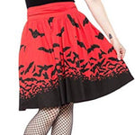 Spooksville Bats Short Swing Skirt XXL