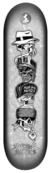 Official Suicidal Tendencies - Suicidal Skates Quatro Vatos Popsicle Deck *FREE SHIPPING*