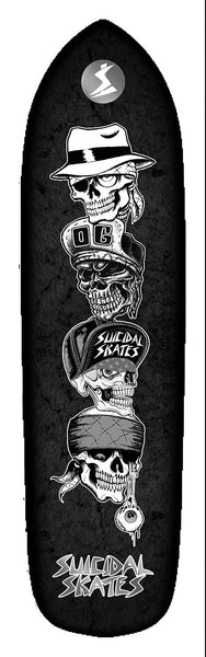 Official Suicidal Tendencies - Suicidal Skates Quatro Vatos Punk Point Deck *FREE SHIPPING*