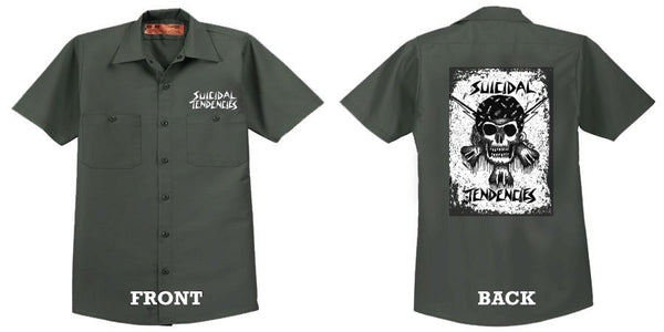 Official Suicidal Tendencies - RxCx Skull Work Shirt *FREE SHIPPING*